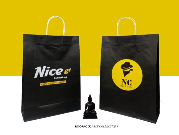 black background paper bags tirupur