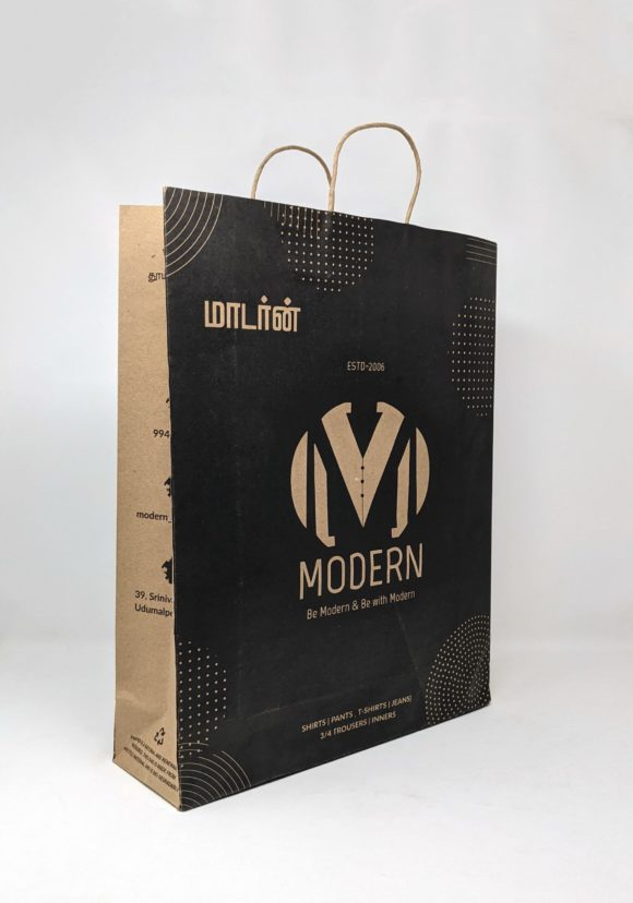 Go Green bags for modern readymades